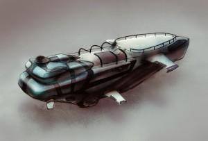 Futuristische zeppelin, nog niet op de markt – Afbeelding: Mark Zwart Design