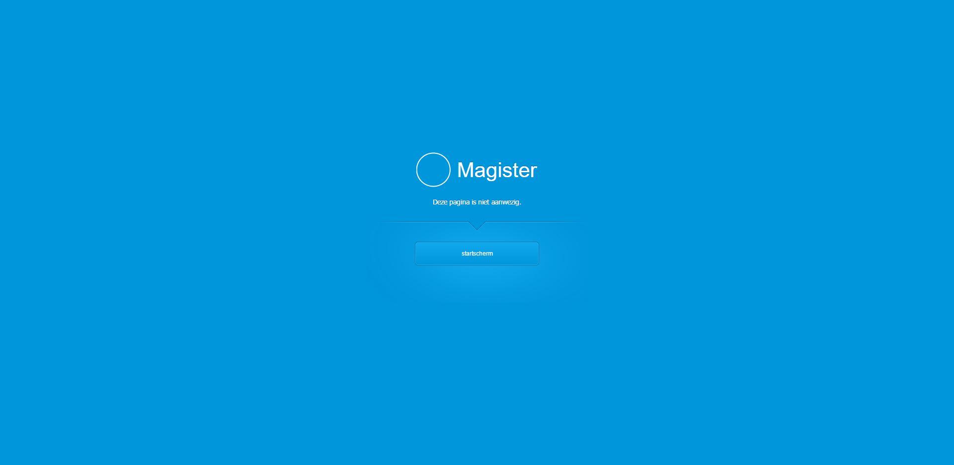 Leerlingen krijgen bericht over storing Magister via Magister